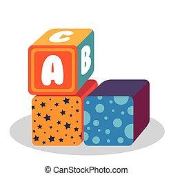 blocks with alphabet toy