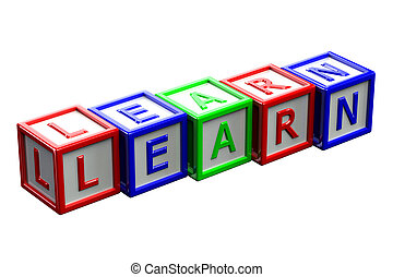 Blocks with word learn