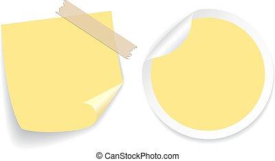 bloco de notas, amarela