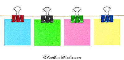 bloco de notas, multicolored, correspondência-isto