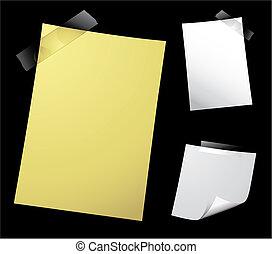 bloco de notas, pretas