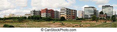 bloco, perkunkiemis, -, vista, residencial, novo, vilnius