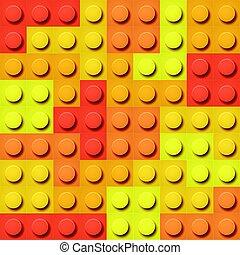 blocos brinquedo, padrão, seamless, experiência., vetorial