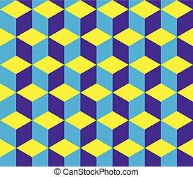 blocos, coloridos, -, seamless, óptico, fundo, ilusão
