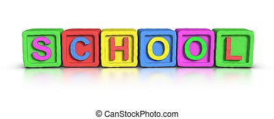 blocos, jogo, escola, :
