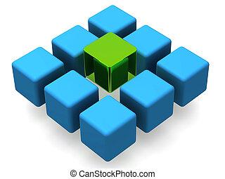 blocos, muitos