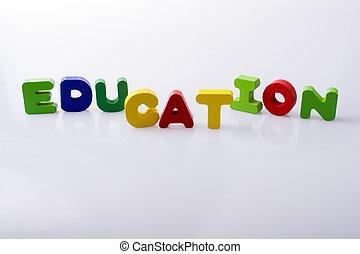 blocs, écrit, education, mot, lettre