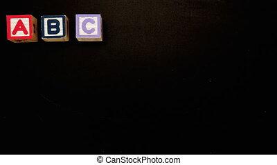 blocs, alphabet, apparaître