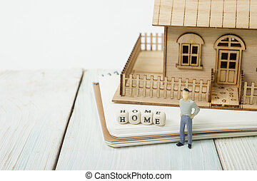 blocs, bois, maison, orthographe, mot