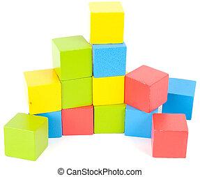 blocs, coloré