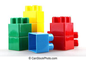 blocs jouet, plastique