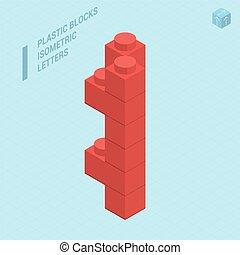 blocs, lettera, plastica
