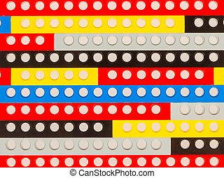 blocs, plastique, bâtiment