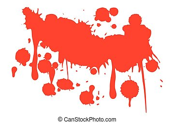 blod, drypande
