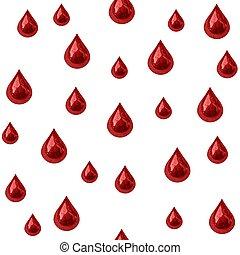 blod, drypande, seamless