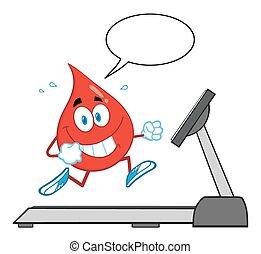 blod gnutta, hälsosam