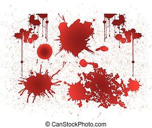 blod, vektor, grunge