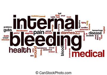 bloedende , intern, woord, wolk