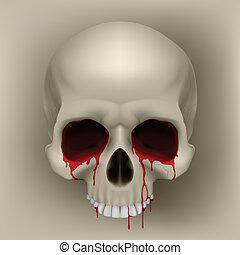 bloedende , schedel