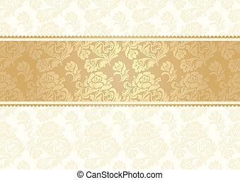 bloem, achtergrond, met, kant, seamle