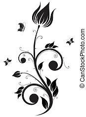 bloem, boekrol