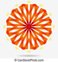 bloem, eco, vector, ontwerp, element., pictogram