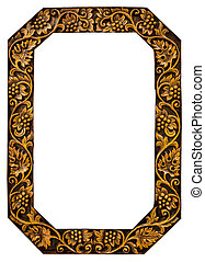 bloem, gekerfde, frame