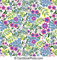 bloem, kleurrijke, achtergrond, witte