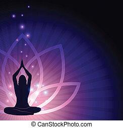 bloem, lotus, yoga