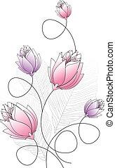 bloem, ontwerp, zich verbeelden