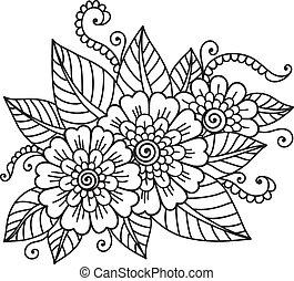 bloem, ornament