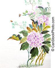bloem, paarse