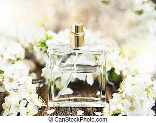 bloem, parfumeer fles