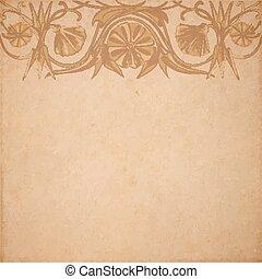 bloem, perkament, achtergrond