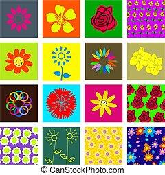 bloem, tegels