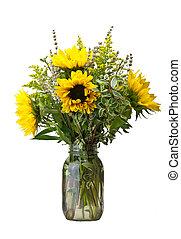 bloem, zonnebloemen, regeling