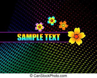 bloemen, achtergrond, ontwerp