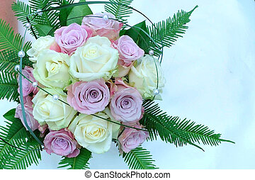 bloemen, achtergrond, trouwfeest