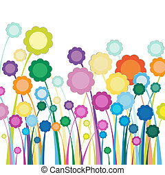 bloemen, akker