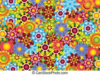bloemen, beeld, raster