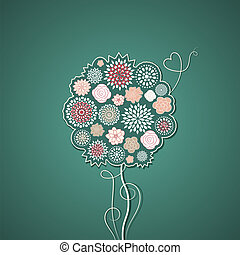 bloemen, boompje