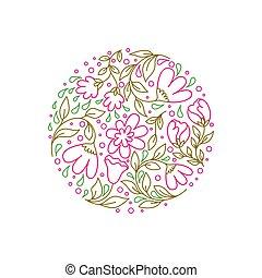 bloemen, cirkel
