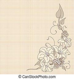 bloemen, doek