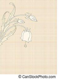 bloemen, doek, retro