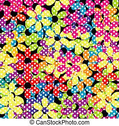 bloemen, dotted, achtergrond