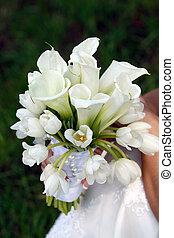 bloemen, gebruikt, voor, bruiloften