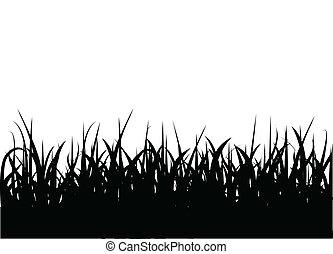 bloemen, gras, achtergrond