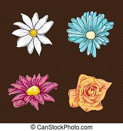 bloemen, iconen