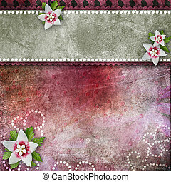 bloemen, kant, achtergrond