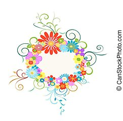 bloemen, krans